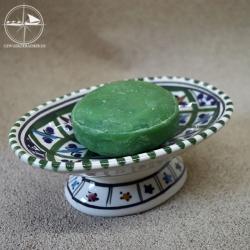Seifenablage aus Keramik, grün