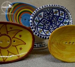 Seifenablage aus Keramik, gelb