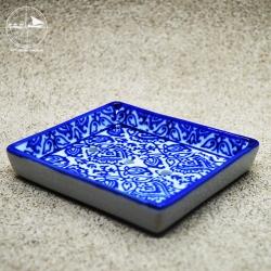 Seifenablage mit blauen Ornamenten