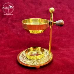 Räucherpfanne für Teelicht, Messing
