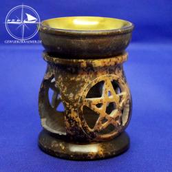 Speckstein-Duftlampe, bauchig