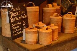 Vorratsdose aus Birkenrinde, Teedose